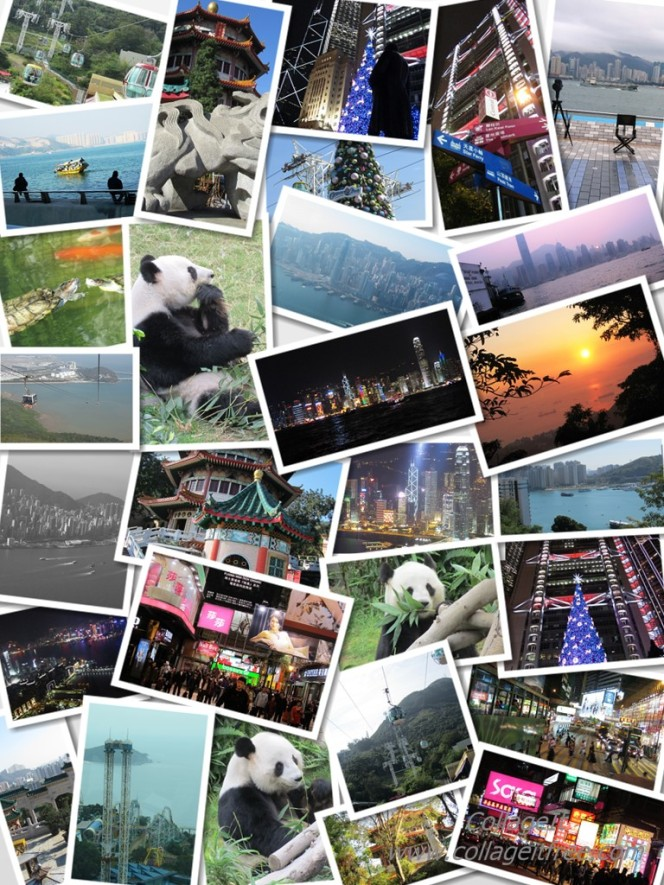Hong Kong Collage Portrait